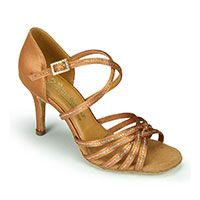 Larissa/Cindy Sequin - Tan Satin (made to order)