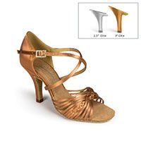 "Demani - Tan Satin - 2½"" Elite heel"