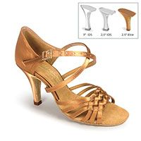 "Elena - Tan Satin - 2½"" Elite heel"
