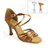 "Flavia - Tan Satin - 2½"" IDS heel"