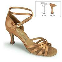 "Melissa - Tan Satin - 2½"" IDS heel"